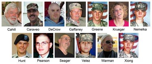 Victims At Fort Hood Massacre