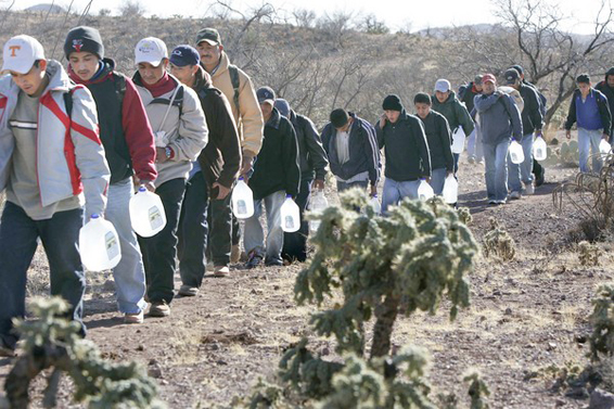 Illegals filing across the border