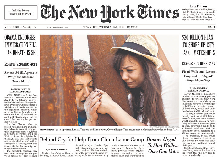 NYTimes Hypes Amnesty with Fabricated Sob Story Spin