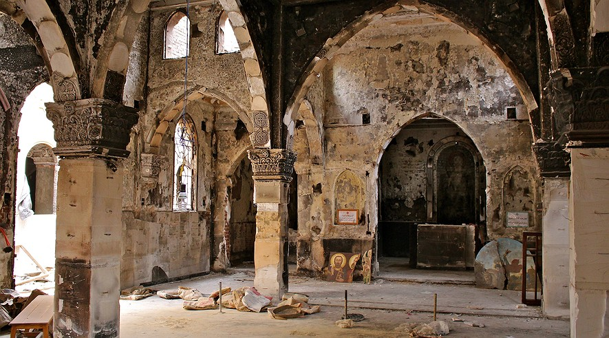 Cairo's Archangel Michael church was looted and burned on August 14, 2013, by 2000 supporters of President Mohammed Morsi.