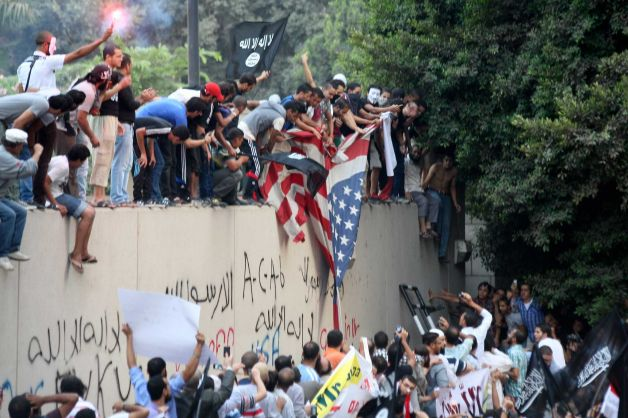 Middle Eastern Muslims Celebrate 9/11 Anniversary by Attacking US Embassy and Consulate