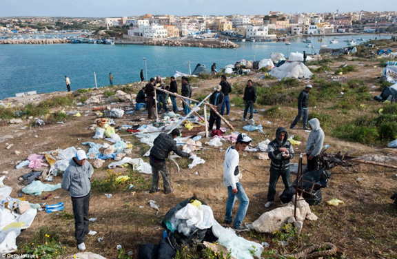 North African Refugees/Invaders In Lampedusa