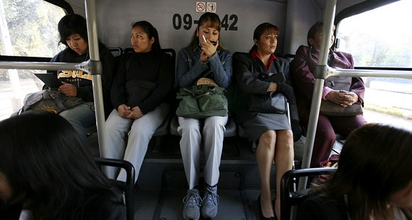 Mexico City provides women-only buses so they can ride without physical harassment and assault from Mexican men.