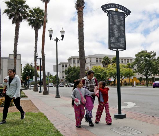 """Downtown Watsonville, which is described as """"like being in a small Mexican town"""" by a resident."""