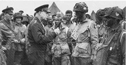 Gen Eisenhower with Airborne before D-Day