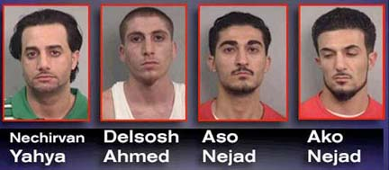4 Nashville Kurdish Pride Gang members