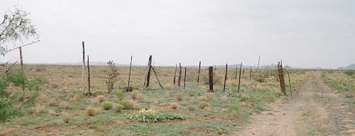 Arizona-Mexico border barb-wire fence