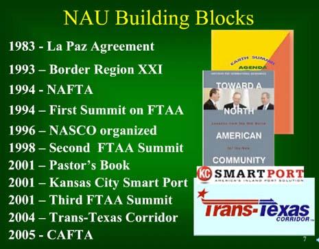 North American Union slide - building blocks