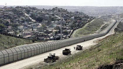 San Diego border fence across from Tijuana