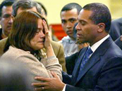 Gov Deval Patrick comforts teary Honduran illegal