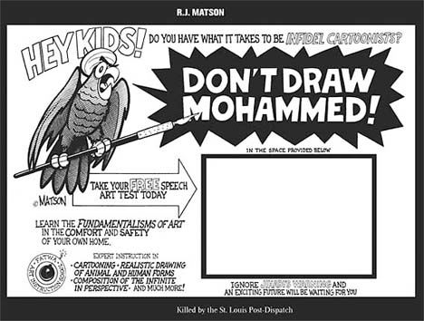 Cartoon Draw Mohammed art test