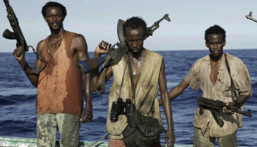 Barkhad Abdi (center) makes a pretty convincing pirate in his first film role.