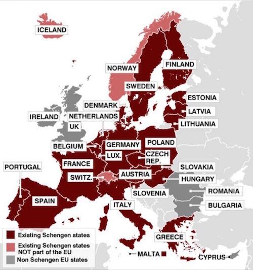 EuropeSchengenMap