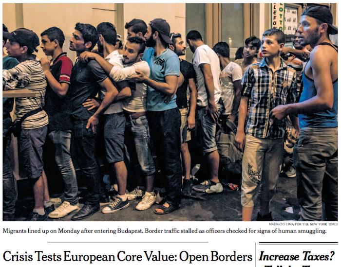 MigrantsLineBudapestEuropeValueOpenBorders-nytFPsept1