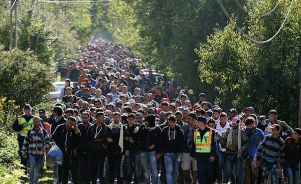 Image result for images of horde of muslim migrants in europe