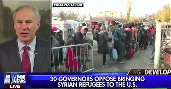 TexasGregAbbottOpposeSyrianRefugees