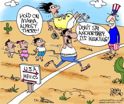 CartoonAnchorBabyBorderRace