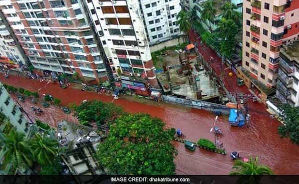Blood on streets of Dhaka