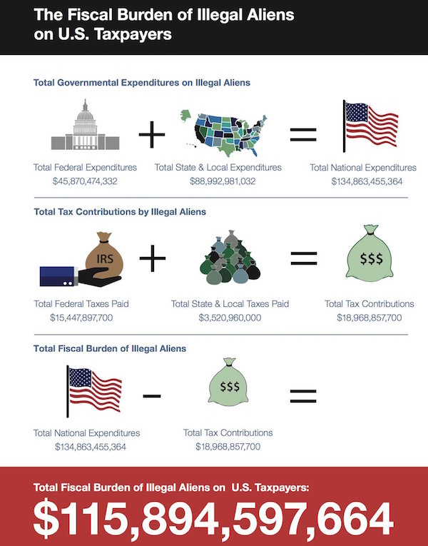 cost of illegal immigration Unlawful immigration and amnesty for current unlawful immigrants can pose large fiscal costs for us taxpayers skip to main content heritage foundation back to top submit frequently searched index of military strength.